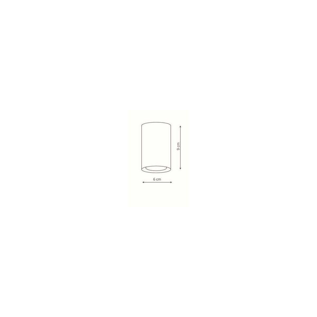 Downlight MANACOR 9 GU10 - złoty ring