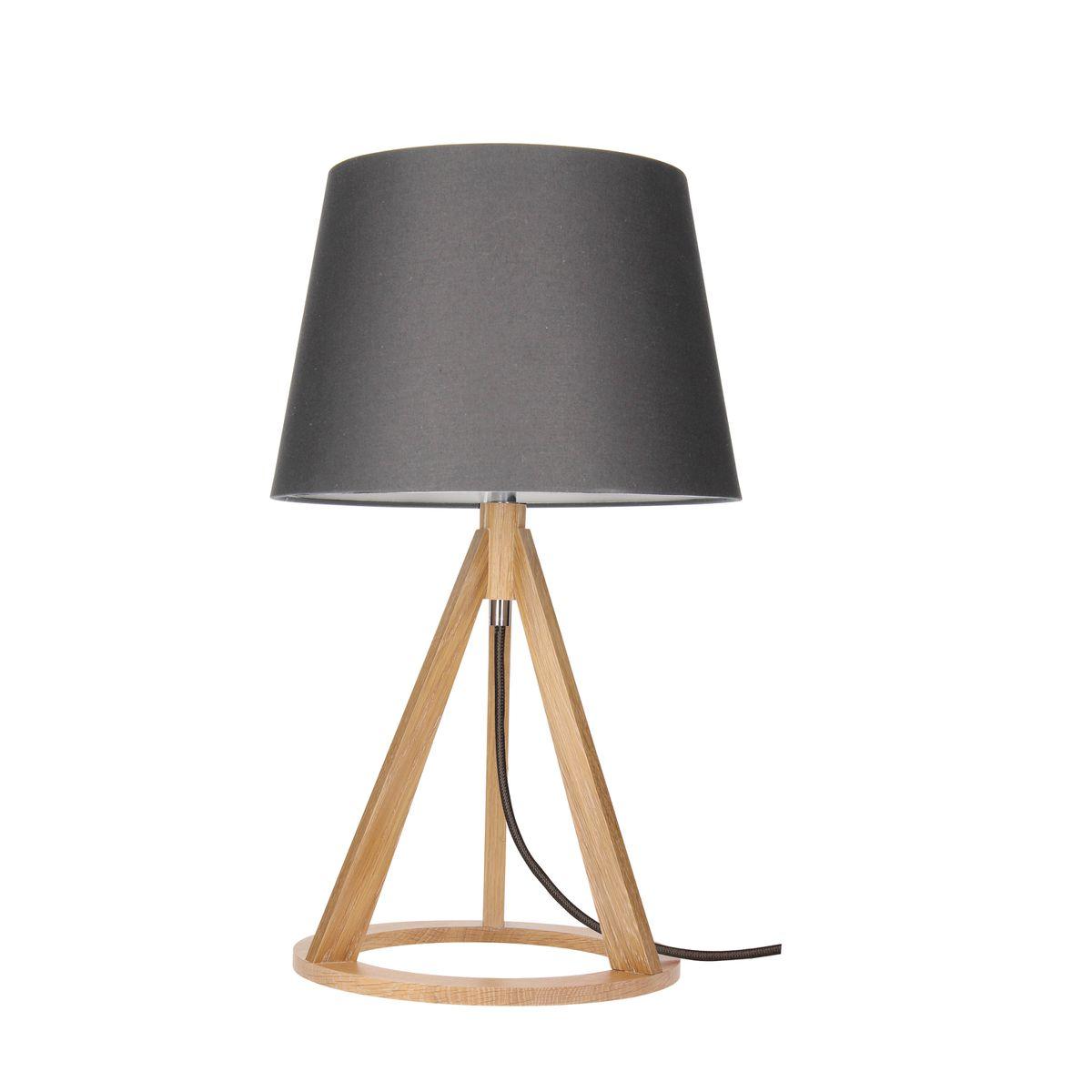 Lampa Stolowa Konan Wood E27 Dab Antracyt