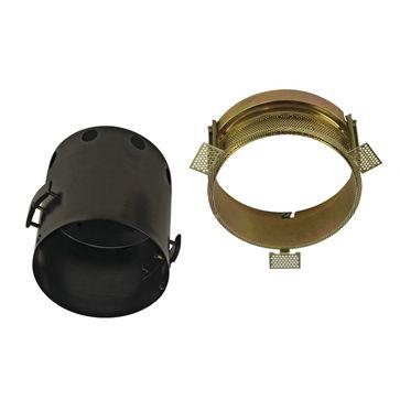 AIXLIGHT PRO 1 FRAMELESS ROUND puszka montażowa, czarna,