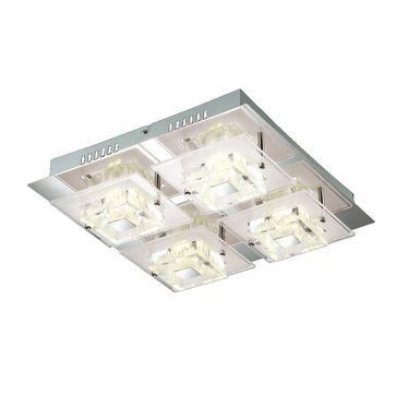 Plafon Bruna LED 4x4W barwa ciepła -chrom