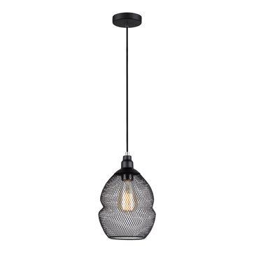 Lampa wisząca Damien E27 -czarna