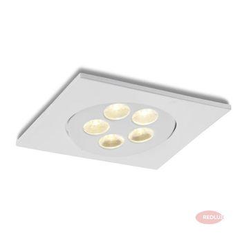 ELEKTRA kwadratowa biała LED 5x1W