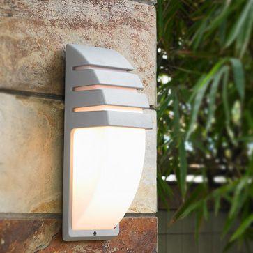 Kinkiet ogrodowy DECORA E27 -srebrny