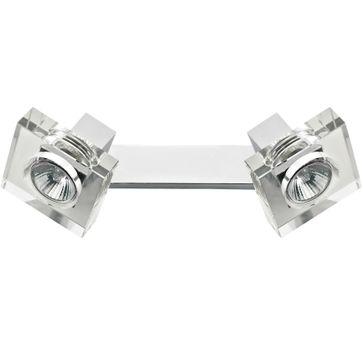 Kinkiet Victoria 2 GU10 -srebrny