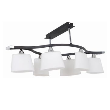 Lampa Balaton 6 E14 - biała/brąz