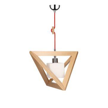 Lampa wisząca TRIGONON WOOD E27 - buk/chrom/biały 6