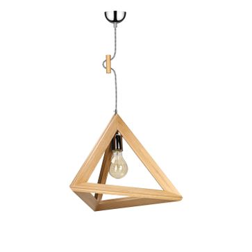 Lampy wiszące TRIGONON WOOD bez klosza E27