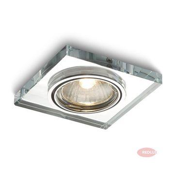 MIRROLA kwadratowa kierunkowa lustrzany szkło GU10