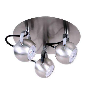 Plafony Nicola SN LED GU10 -satynowy nikiel