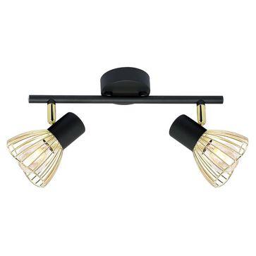 Oprawy ścienno-sufitowe FLY E14 - czarny/złoty