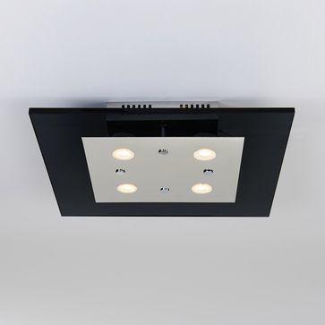 Plafon Ottone SMOKY LED 4x5W barwa ciepła -chrom/czarny