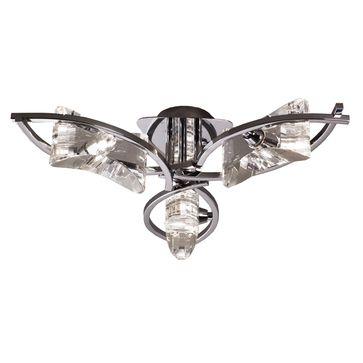 Plafon Krom 3 G9 -srebrny