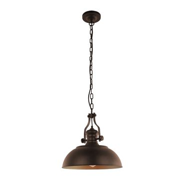 Lampa wisząca Rosalia E27 - brązowa/brudny złoty