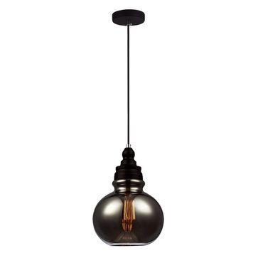Lampa wisząca Salina E27 - chrom/dymiony