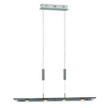 Lampa wisząca Savio SMOKY LED 4x5W barwa ciepła - chrom