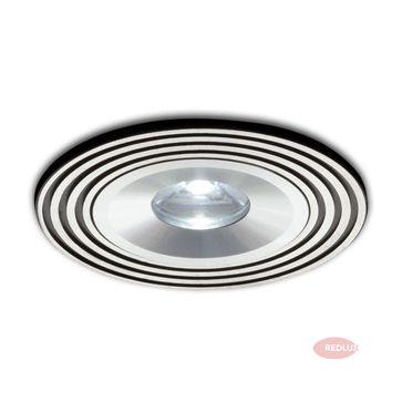 SISI do wbudowania czarna aluminium LED 1W