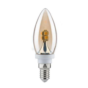 Żarówka świeczka Paulmann LED 2,5W E14 2600K złoty