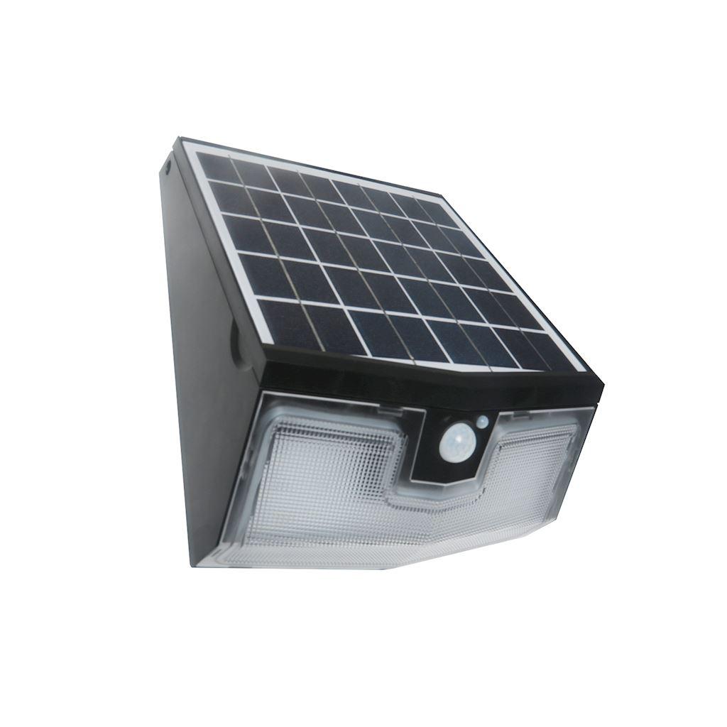 Kinkiet Solarny Z Czujnikiem Transformer Led 15w 4000k Ip65 Czarny