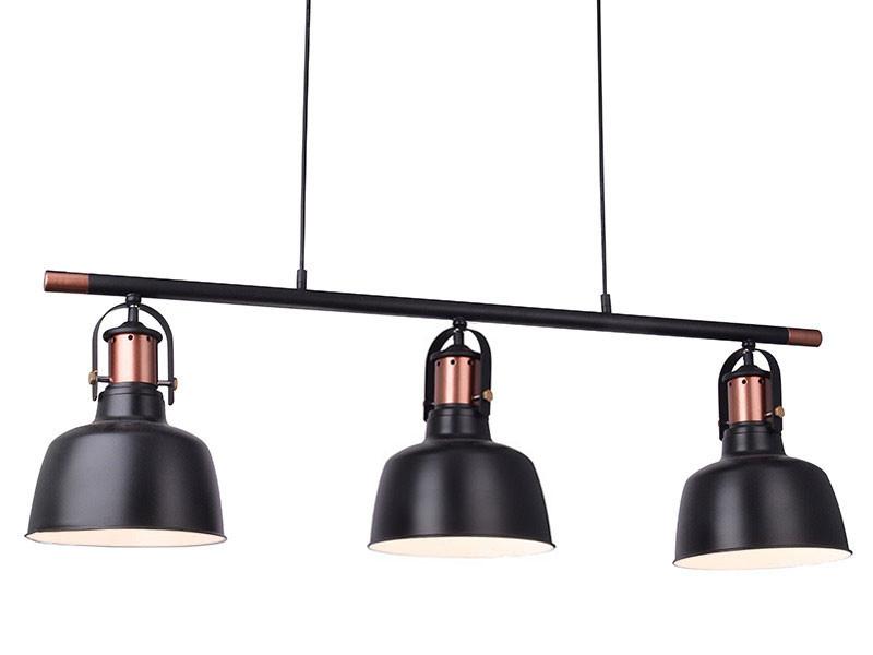 3 lampy na listwie do kuchni