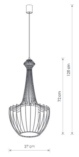 Lampa wisząca LUKSOR PLUS S E27 biały