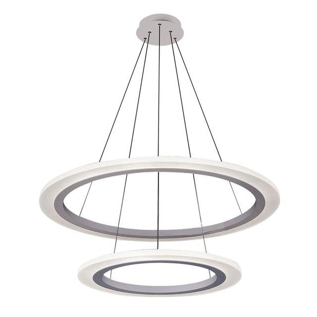 Lampa wisząca ADRIENNE 80cm LED 62W 4000K IP40 srebrny