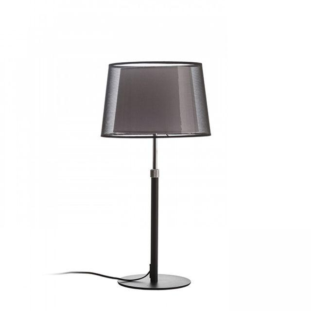 Lampa Stolowa Esplanade E27 Czarny Bialy